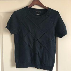 Massimo Dutti short sleeve crossed shirt Sz M